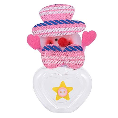 Cabilock Frascos de Almacenamiento de Dulces Navideños Muñeco de Nieve de Plástico Frascos de Galletas en Forma de Corazón Contenedor de Dulces de Comida Soporte para Botella de Regalo