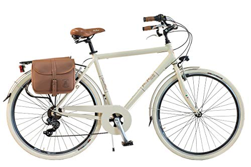 Via Veneto by Canellini Bicicletta Bici Citybike CTB Uomo Vintage Retro Via Veneto Alluminio Panna Taglia 58