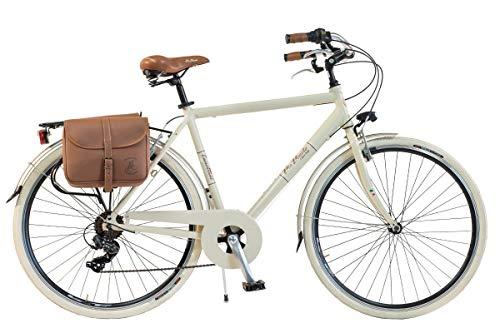 Via Veneto By Canellini Fahrrad Rad Citybike CTB Herren Vintage Retro Via Veneto Alluminium (Beige, 54)