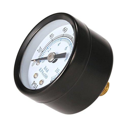 Greatangle Professionelle 1/8 Zoll 160 Psi 0-10 bar Kompressor Druckluft Manometer Kleine Doppelwaage Messgerät Ts-40 - Schwarz