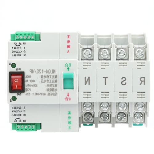 Interruptor de transferencia automática de doble potencia, interruptor de transferencia dual Interruptor de palanca de transferencia automática estable y sin ruido para fuente de(100A)