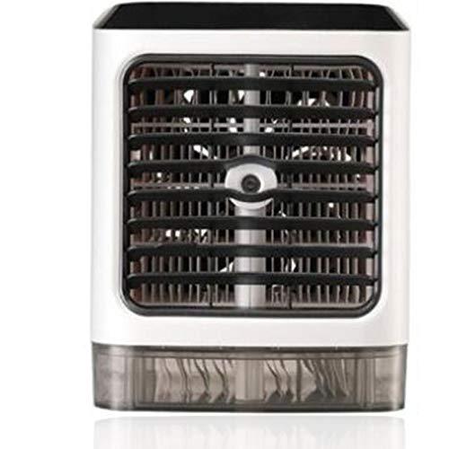KILLM Enfriador de Aire para Hogar Oficina Aire Acondicionado Portátil 4 en 1 Mini Ventilador Humidificador Purificador Luz de Noche, 3 Velocidades, 7 Colores Luz Ajustable