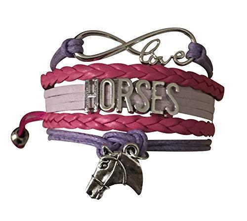 Sportybella Pferde-Charm-Armband für Pferdeliebhaber