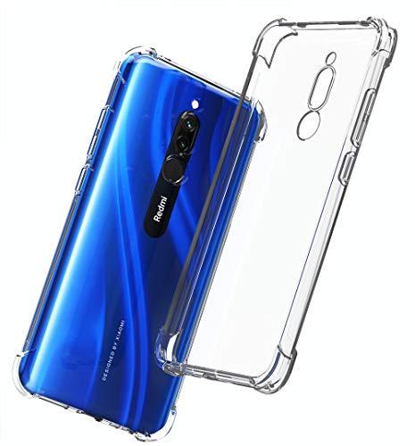 QHOHQ Cover per Xiaomi Redmi 8, Custodia Trasparente Gel Silicone Sottile TPU Silicone Ultra Sottile Case per Xiaomi Redmi 8 (Trasparente)