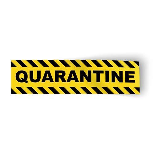 GT Graphics Express Quarantine Strip Sign - Vinyl Sticker - 8'