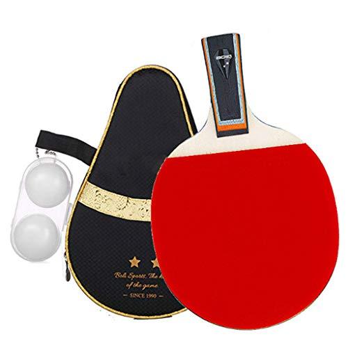 Lerten Los Murciélagos de Tenis de Mesa Profesional Paleta de Ping Pong de 7 Capas de Madera de la Hoja - Mejor Regalo para Niños Y Niñas Adultos - Gran para el Juego Interior O Al Aire Libre Ra