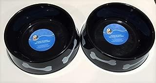 (2 Pack) Round Plastic Pet Bowls - 9 3/4 Inch