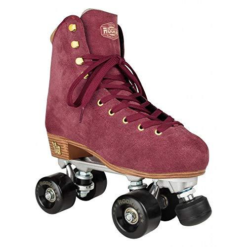 Rookie Rollerskate Classic Suede Skate, Damen 37 Weinrot