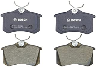Bosch BP340 QuietCast Premium Semi-Metallic Disc Brake Pad Set For: Audi A3, A4, A6, A8, Allroad, Quattro, RS6, S4, S6, S8, TT; Peugeot; Volkswagen: Beetle, Cabrio, Corrado, Golf, Jetta, Passat, Rear