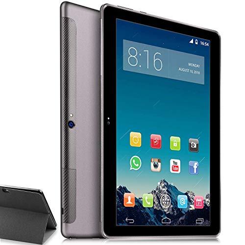 Tablet 10 Inch 4G LTE - TOSCIDO Android 10.0,Otca Core 3GB RAM 64GB ROM,Dual SIM,WiFi/Bluetooth/GPS/Type C Port,Dual Stereo Speaker - Grey