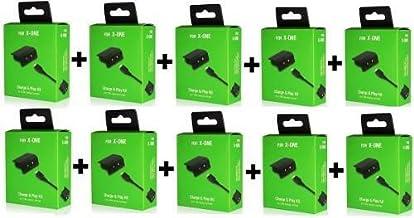 Kit 10 Bateria e Cabo Carregador Controle XBOX ONE Charge
