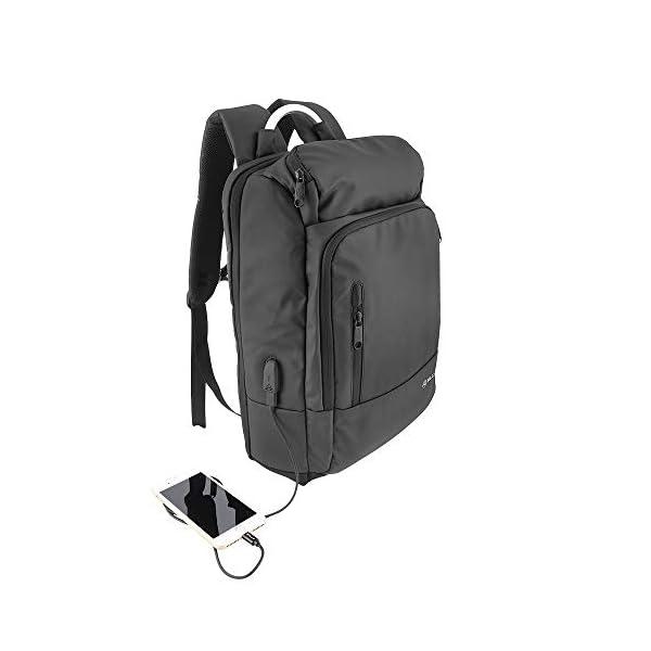 """417E7GkhPfL. SS600  - Tellur 17.3"""" Notebook Backpack Business L, USB Port, Black"""