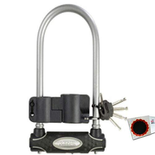 keine Angabe Master Lock Bügelschloss 8195 13mm x 280mm x 110mm Schlüssel grau 1,25kg Fahrrad