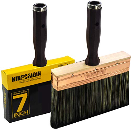 7 Inch Decking and Stain Brush,Block Brush, Paint Brush Heavy Duty Professional Stain Brush, Paint Brush,Paint Brushes, Double Thick 1.2 inch,Fence Brush,Paint Brush for Walls,Painters Paint Brush