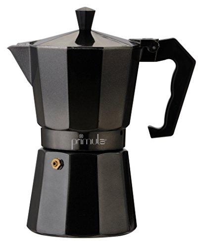 Primula Espresso-Kaffeemaschine Espressokocher für 6 Tassen 6 Cups schwarz