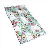 Olie Cam Perros Samoyedo Toallas Florales para Perros Patrón de Personalidad de poliéster Toalla súper Absorbente