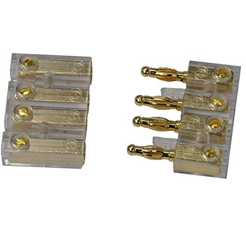 CAR HIFI Soundboard 4-fach Audio Spezial Steckverbinder Stereo Buchse bis 4 mm² Kabel , vergoldete Stecker