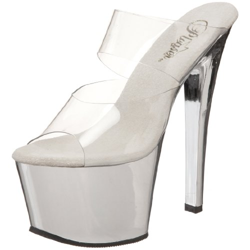 Pleaser Womens Sky-302CH Sky-302ch Clear Size: 8 UK