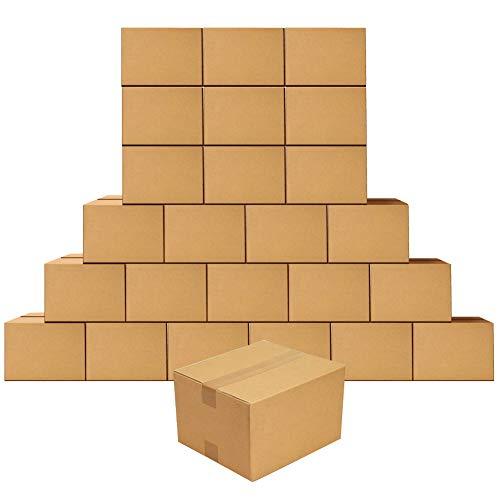 Scatole per spedizioni in cartone kraft 22.9x15.3x10.2cm a parete singola, confezione da 25
