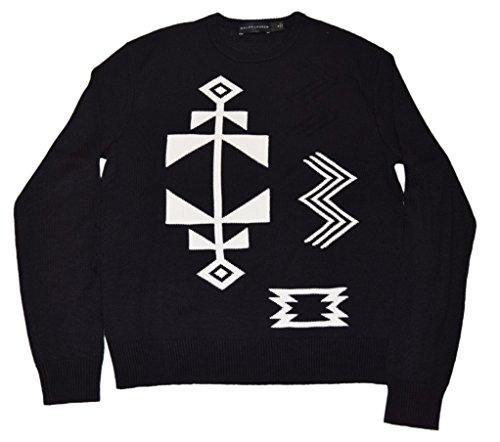 Ralph Lauren Polo Black Label Mens Sweater Linen Cashmere Indian Aztec Small