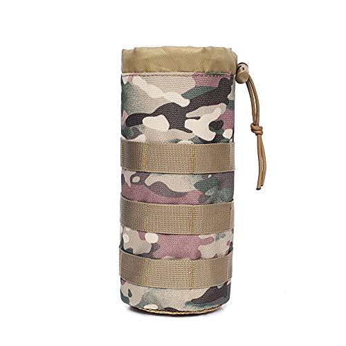Bolsa para botellas de agua – Bolsa deportiva táctica con cordón Molle para botella de agua, portátil, ligera, con cordón, para senderismo, camping, viajes, deportes