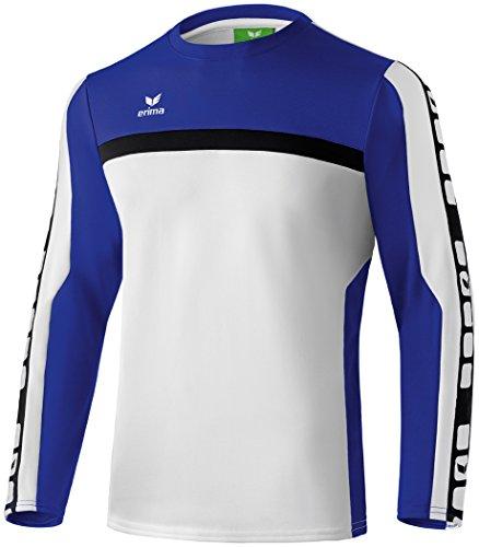 Erima Dziecięca bluza treningowa Classic 5-C, biała/indygo/czarna, 164