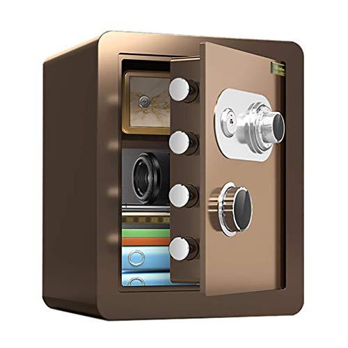 Caja fuerte de seguridad, cajas fuertes a prueba de fuego a prueba de agua con cerradura de combinación mecánica, caja fuerte pequeña para el hogar, caja fuerte antirrobo de acero para mini oficina, c