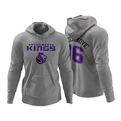 ZSPSHOP NBA Plus - Sudadera de baloncesto de terciopelo, diseño de letra Bucks Brother Adeto Kunbo de algodón y terciopelo con capucha para otoño e invierno (talla XXL)