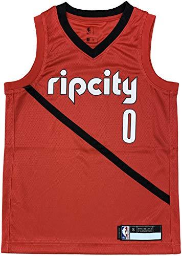 Damian Lillard Portland Trail Blazers #0 Red Youth 8-20 City Edition Swingman Jersey (10-12)
