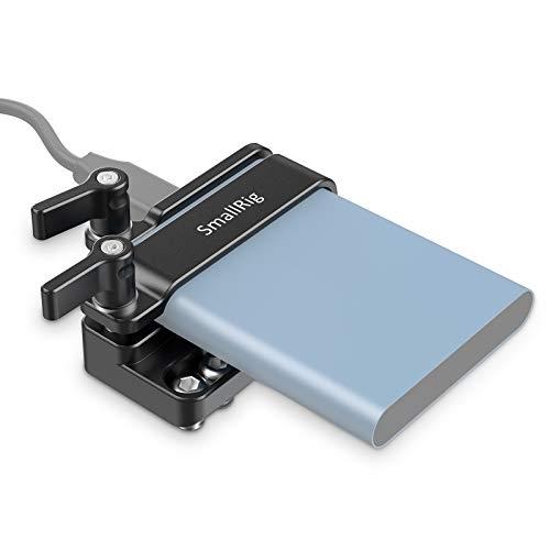 (Nueva Versión) SMALLRIG T5 SSD Mount Soporte de Montaje Compatible con Samsung T5 SSD, Adaptador de Montaje para Samsung T5 SSD Funciona con Jaula SMALLRIG para BMPCC 4K, 6K - 2245B