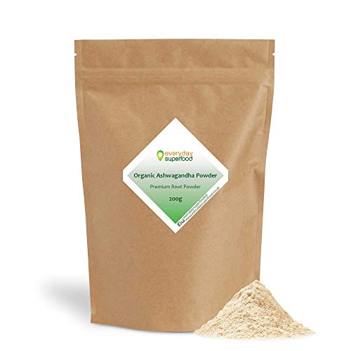 Ashwagandha Powder Organic Premium Root Powder Pure Keto Ingredient Use Everyday Superfood Organic Ashwagandha Powder in Drinks and Food (200g)