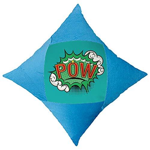 OFFbb-USA Bubble Pow - Funda decorativa para cama de coche, diseño de dibujos animados, color azul