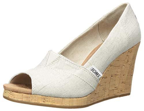 TOMS Women's Classic Espadrille Wedge Sandal,...