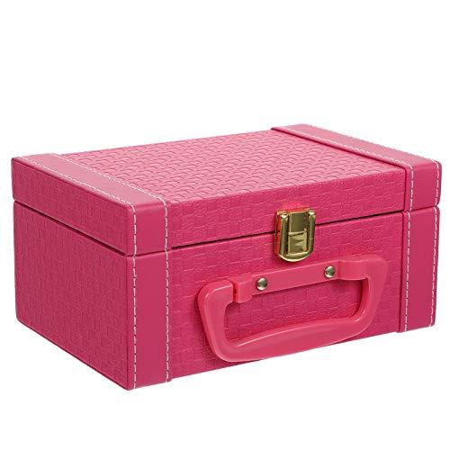 TOYANDONA Caixa organizadora de joias musicais, estojo de armazenamento de joias de couro para mulheres, meninas, anel, colar, brincos, relógios, pulseiras