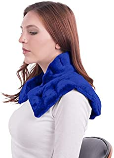 Heated Microwaveable Neck and Shoulder Wrap - Herbal Hot/Cold Deep Penetrating Herbal Aromatherapy (Slate Blue)