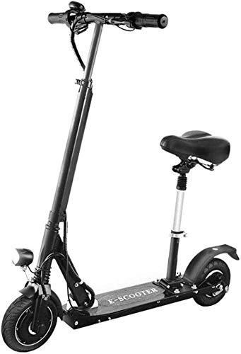 FHDFH Adultos movimiento deslizamiento eléctrico patada plegable eléctrico ajustable mango y asiento eléctrico portátil 40 Kph velocidad superior