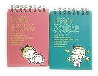 2冊セット リングメモ レモン&シュガー A7サイズ