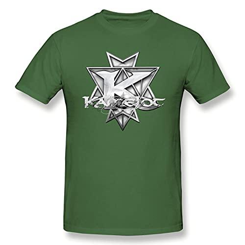 Raglan Kamelot - Camiseta básica de manga corta para hombre, color negro