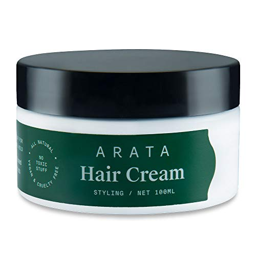 Arata Natural Curl Styling & Hold Hair Cream With Organic Flaxseed & Olive Oil | All-Natural, Vegan & Cruelty-Free | Styling & Hair Growth Formula For Men & Women - (100 G)