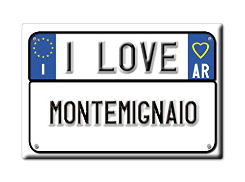 Enjoymagnets MONTEMIGNAIO CALAMITA Magnete Toscana (AR) Fridge Magnet Souvenir Love (VAR. Targa)