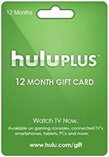 ( Hulu Plus 12 Month Subscription Gift Code,TOP SELLING !!!! You get the gift code via amazon message in 24 hours after we receive your payment . Please note: No Card will be shipped.( USA ONLY)
