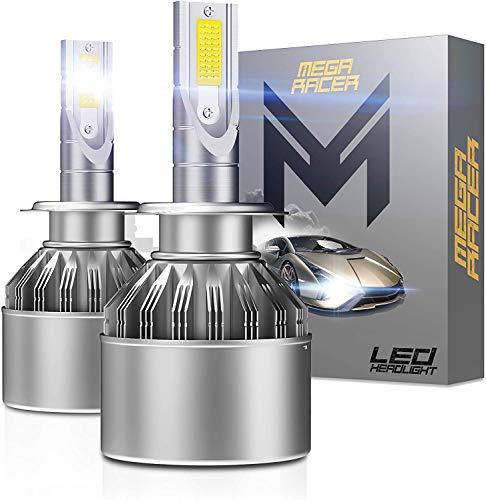 Mega Racer H7 LED Headlight Bulb 6000K White 8000 Lumens H7 LED Bulbs LED H7 Headlights H7 LED Headlights H7 LED Bulb LED H7 Headlight Bulb H7 Bulb H7 HID Kit H7 Headlight