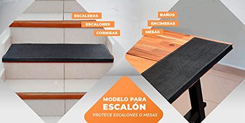 LucaHome – Felpudo Goma Picos Entrada casa para Exterior o Interior, Felpudo con púas Rectangular Antideslizante con Picos para facilitar la Limpieza del Calzado, Felpudo de Color Negro (40 x 70 cm)