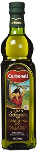 Aceite de oliva virgen extra carbonell monovarietal arbequina 0,75 litro en vidrio
