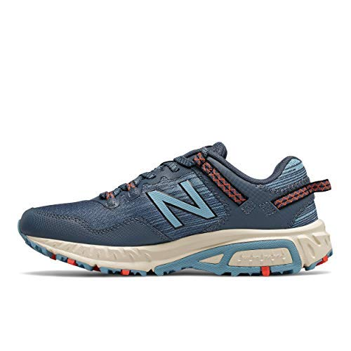 New Balance Women's 410 V6 Trail Running Shoe, Stone Blue/Wax Blue, 9.5 M US