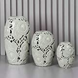 Jarrón de porcelana gris 'KYOTO' 25 x 46 cm D17373