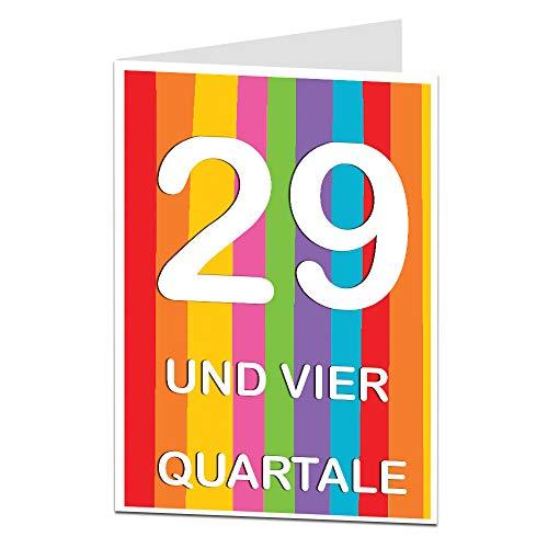 LimaLima 30. Geburtstagskarte für Männer & Frauen Sarkastische Grußkarte A5 (zusammengeklappt) Glückwunschkarte zum Geburtstag mit farbigem Umschlag
