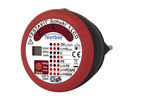 Testboy Steckdosenprüfgerät, Testboy Testavit Schuki 1 LCD