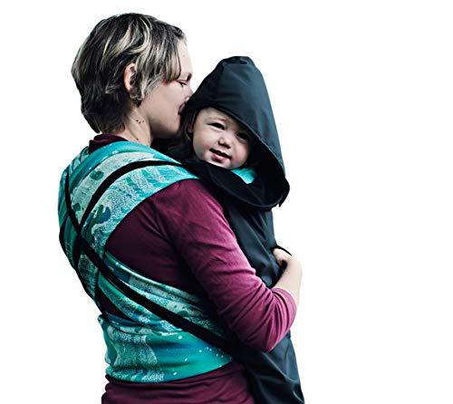 BundleBean - Wetterschutz-Cover für Babytragen & Tragetücher - Fleece-Futter - Schwarz