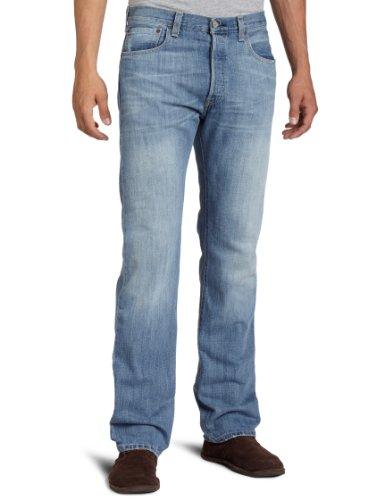 Levi's 501 Original Straight Fit Jeans, Blu (Light Mist), 38W x 32L Homme